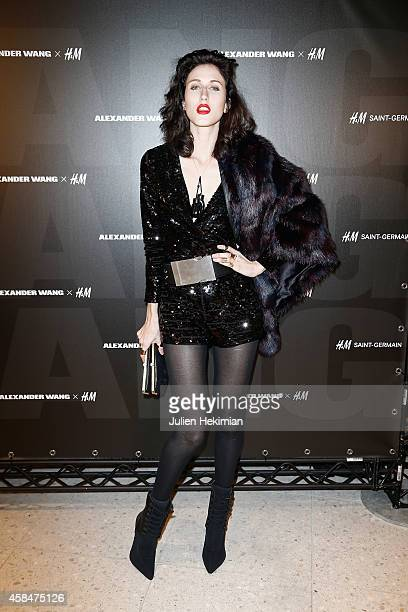 Anna Cleveland attends the Alexander Wang x HM Collection Launch at the HM Boulevard SaintGermain store on November 5 2014 in Paris France