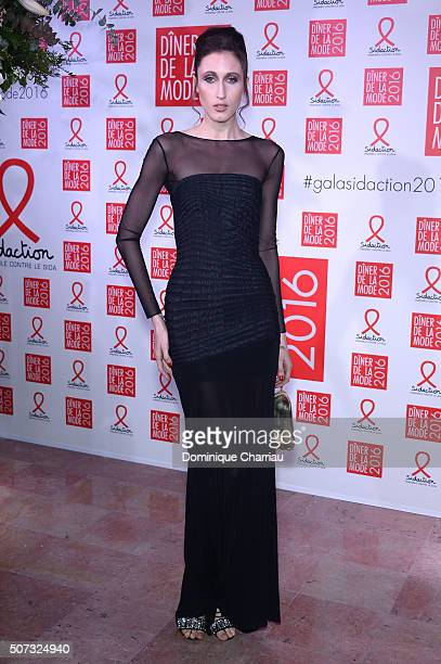 Anna Cleveland attends the Sidaction Gala Dinner 2016 as part of Paris Fashion Week on January 28 2016 in Paris France