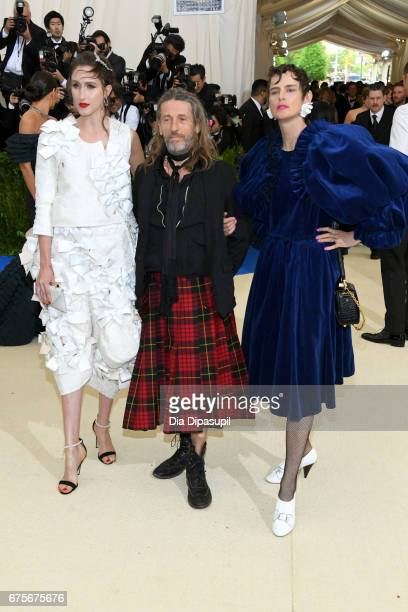 Anna Cleveland Julien d'Ys and Stella Tennant attend the 'Rei Kawakubo/Comme des Garcons Art Of The InBetween' Costume Institute Gala at Metropolitan...