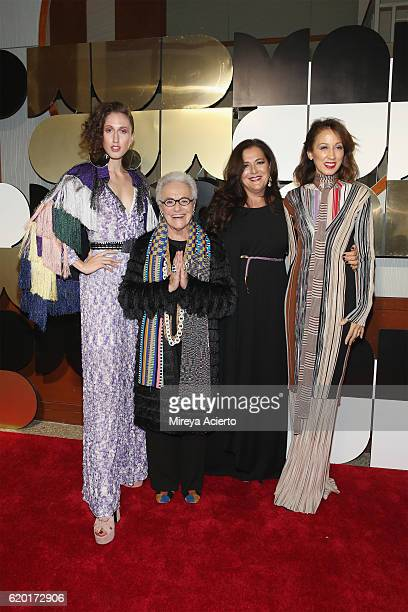 Anna Cleveland Rosita Missoni Angela Missoni and Pat Cleveland attend the 60th Anniversary Museum of Arts and Design Diamond Jubilee at Pier Sixty at...
