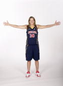 Anna DeForge of the Indiana Fever poses for a portrait during the Fever Media Day on May 11 2007 at Conseco Fieldhouse in Indianapolis Indiana NOTE...