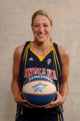 Anna DeForge of the Indiana Fever poses for a portrait during the 2007 WNBA AllStar Media Availability on July 13 2007 at the Renaissance Mayflower...