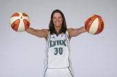 Anna DeForge of the Minnesota Lynx poses for a portrait during the team's 2009 Media Day on May 15 2009 at the Target Center in Minneapolis Minnesota...