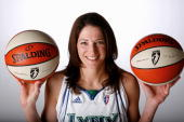 Anna DeForge of the Minnesota Lynx poses for a portrait during WNBA Media Day on May 12 2008 at Target Center in Minneapolis Minnesota NOTE TO USER...