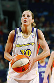 Anna DeForge of the Phoenix Mercury shoots a free throw against the Sacramento Monarchs in a WNBA game on May 21 2005 at America West Arena in...