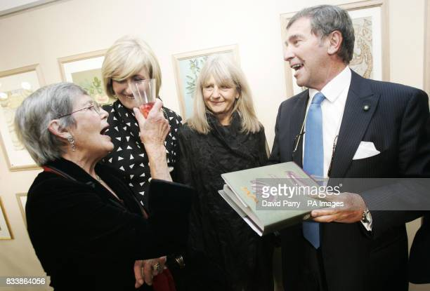 Anna Del Conte author Claire Blampied MD Sacla UK Val Archer artist and Lorenzo Ercoly President Sacla UK at the launch of new culinary travelogue...