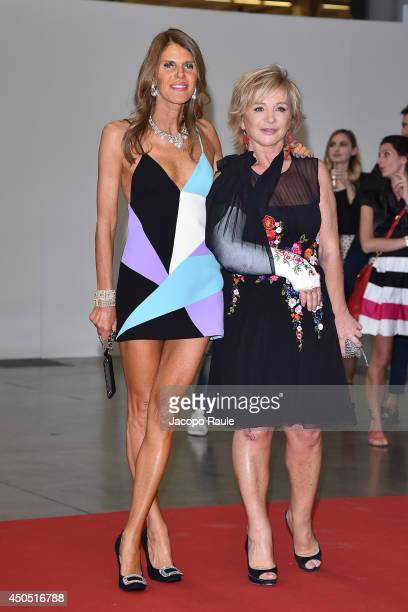 Anna Dello Russo and Alberta Ferretti attend the Convivio 2014 on June 12 2014 in Milan Italy