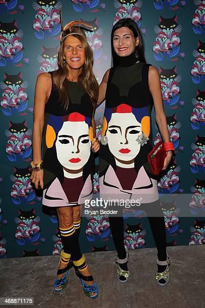 Anna dello Russo and Giovanna Battaglia wearing PRADA at Miu Miu Women's Tales 7th Edition 'Spark Light' Screening Arrivals at Diamond Horseshoe on...