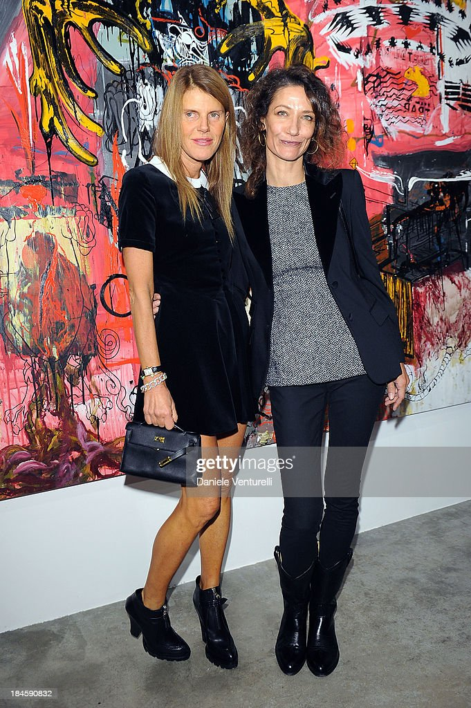 Anna Dello Russo and Marpessa Hennink attend Cardi Black Box Gallery Present Nicolas Pol hosted by Nicolo Cardi And Vladimir Restoin Roitfeld at...