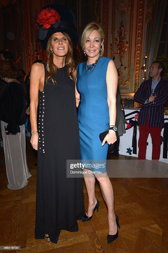<a gi-track='captionPersonalityLinkClicked' href=/galleries/search?phrase=Anna+Dello+Russo&family=editorial&specificpeople=4391772 ng-click='$event.stopPropagation()'>Anna Dello Russo</a> and <a gi-track='captionPersonalityLinkClicked' href=/galleries/search?phrase=Nadja+Swarovski&family=editorial&specificpeople=653118 ng-click='$event.stopPropagation()'>Nadja Swarovski</a> attend the Swarovski X Lanvin : Cocktail Party At Shangri La Hotel as part of the Paris Fashion Week Womenswear Fall/Winter 2015/2016 on March 6, 2015 in Paris, France.