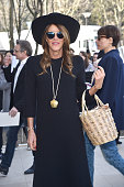 Anna Dello Russo arrives at Celine Fashion Show during Paris Fashion Week Fall Winter 2015/2016 on March 8 2015 in Paris France