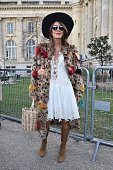 Anna Dello Russo arrives at Chloe Fashion Show during Paris Fashion Week Fall Winter 2015/2016 on March 8 2015 in Paris France