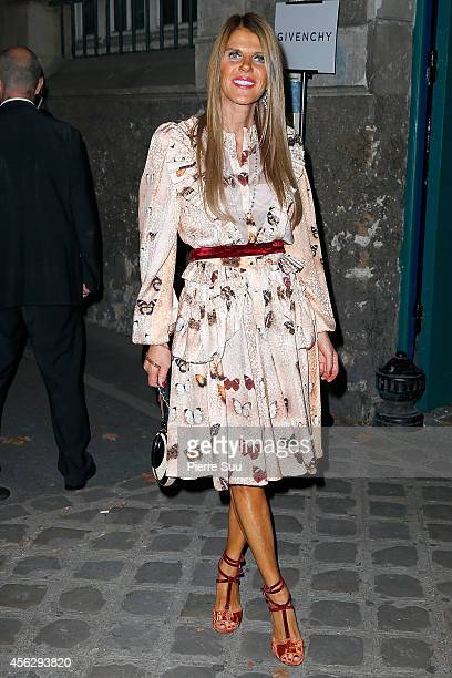 Anna Dello Russo arrives at Givenchy Fashion Show during Paris Fashion Week Womenswear SS 2015 on September 28 2014 in Paris France