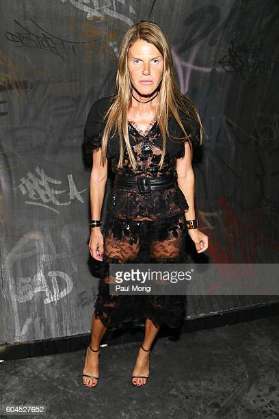 Anna Dello Russo arrives at the Coach 1941 Women's Spring 2017 Show at Pier 76 on September 13 2016 in New York City
