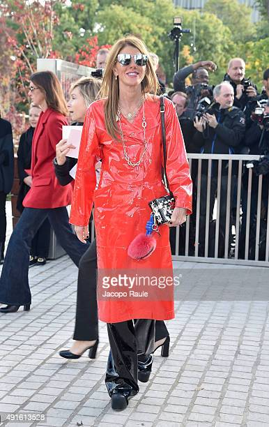 Anna Dello Russo arrives at the Louis Vuitton Fashion Show during the Paris Fashion Week S/S 2016 Day Nine on October 7 2015 in Paris France