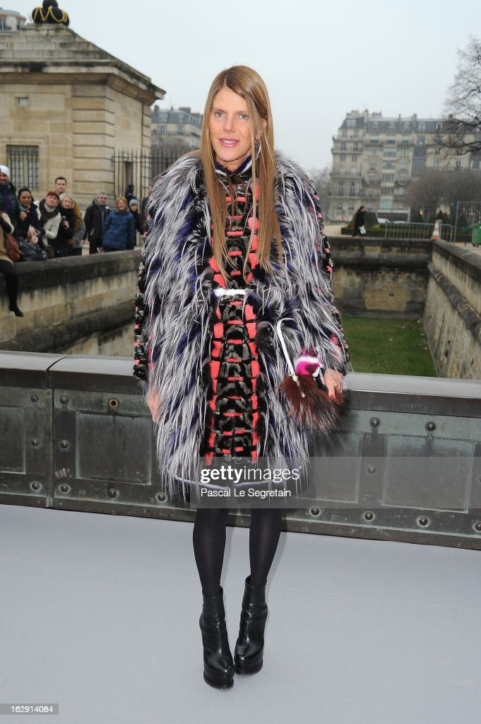 Anna Dello Russo arrives to attend the Christian Dior Fall/Winter 2013 Ready-to-Wear show as part of Paris Fashion Week on March 1, 2013 in Paris, France.