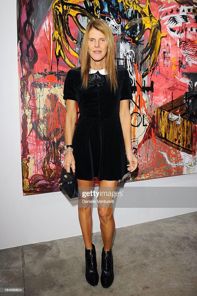 Anna Dello Russo attends Cardi Black Box Gallery Present Nicolas Pol hosted by Nicolo Cardi And Vladimir Restoin Roitfeld at Cardi Black Box on...