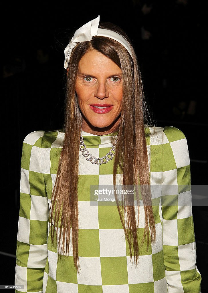 Anna dello Russo attends Marc By Marc Jacobs during Fall 2013 Mercedes-Benz Fashion Week at The Theater at Lincoln Center on February 11, 2013 in New York City.
