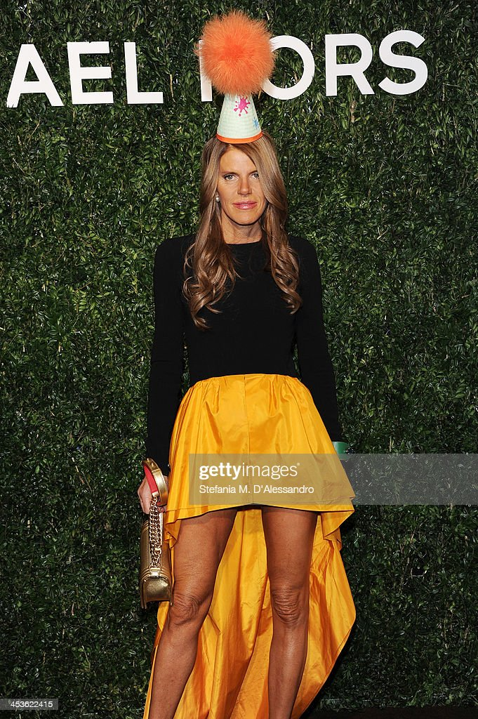 <a gi-track='captionPersonalityLinkClicked' href=/galleries/search?phrase=Anna+Dello+Russo&family=editorial&specificpeople=4391772 ng-click='$event.stopPropagation()'>Anna Dello Russo</a> attends Michael Kors To Celebrate Milano on December 4, 2013 in Milan, Italy.