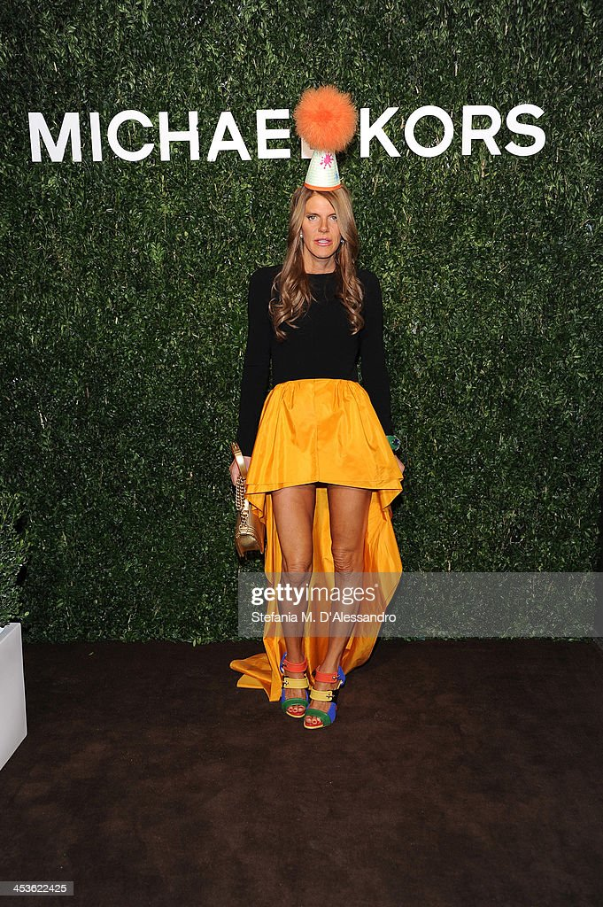 Anna Dello Russo attends Michael Kors To Celebrate Milano on December 4, 2013 in Milan, Italy.