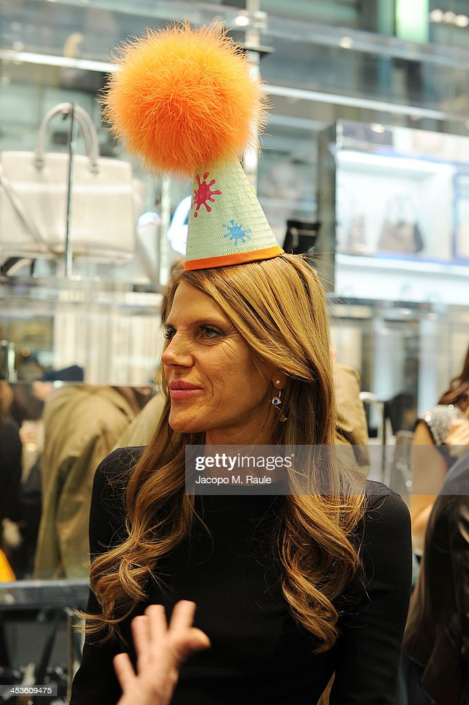 Anna Dello Russo attends Michael Kors To celebrate Milano opening on December 4, 2013 in Milan, Italy.