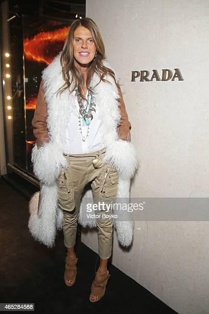 Anna Dello Russo attends Prada The Iconoclasts Paris 2015 on March 5 2015 in Paris France