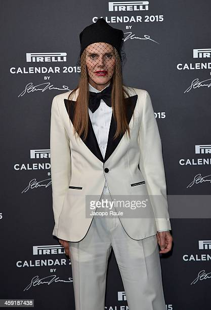 Anna Dello Russo attends the 2015 Pirelli Calendar Red Carpet on November 18 2014 in Milan Italy