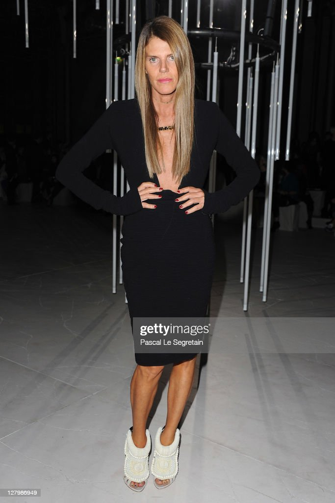 Anna Dello Russo attends the Alexander McQueen Ready to Wear Spring / Summer 2012 show during Paris Fashion Week on October 4, 2011 in Paris, France.
