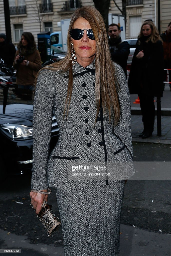 <a gi-track='captionPersonalityLinkClicked' href=/galleries/search?phrase=Anna+Dello+Russo&family=editorial&specificpeople=4391772 ng-click='$event.stopPropagation()'>Anna Dello Russo</a> attends the Balenciaga Fall/Winter 2013 Ready-to-Wear show as part of Paris Fashion Week on February 28, 2013 in Paris, France.