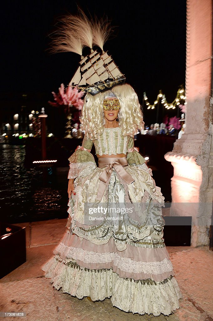Anna Dello Russo attends the 'Ballo in Maschera' to Celebrate Dolce&Gabbana Alta Moda at Palazzo Pisani Moretta on July 6, 2013 in Venice, Italy.