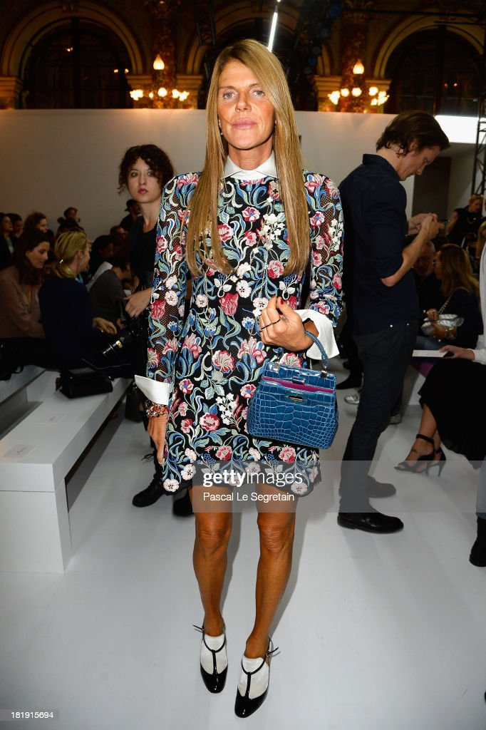<a gi-track='captionPersonalityLinkClicked' href=/galleries/search?phrase=Anna+Dello+Russo&family=editorial&specificpeople=4391772 ng-click='$event.stopPropagation()'>Anna Dello Russo</a> attends the Balmain show as part of the Paris Fashion Week Womenswear Spring/Summer 2014 at Grand Hotel Intercontinental on September 26, 2013 in Paris, France.