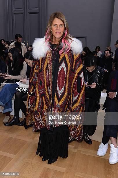 Anna Dello Russo attends the Chloe show as part of the Paris Fashion Week Womenswear Fall/Winter 2016/2017 on March 3 2016 in Paris France