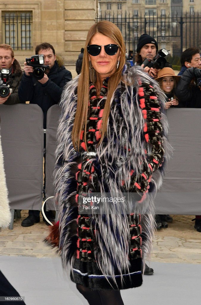 Anna Dello Russo attends the Christian Dior - Outside Arrivals - PFW F/W 2013 at Hotel des Invalides on March 1rst, 2013 in Paris, France.