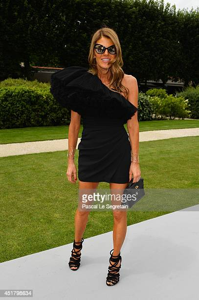 Anna Dello Russo attends the Christian Dior show as part of Paris Fashion Week Haute Couture Fall/Winter 20142015 on July 7 2014 in Paris France
