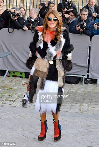 Anna Dello Russo attends the Christian Dior show as part of the Paris Fashion Week Womenswear Fall/Winter 2015/2016 on March 6 2015 in Paris France