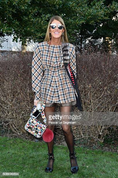Anna Dello Russo attends the Christian Dior Spring Summer 2016 show as part of Paris Fashion Week on January 25 2016 in Paris France