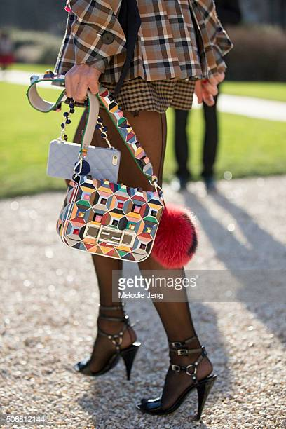 Anna Dello Russo attends the Dior Couture show at Musee Rodin on January 25 2016 in Paris France