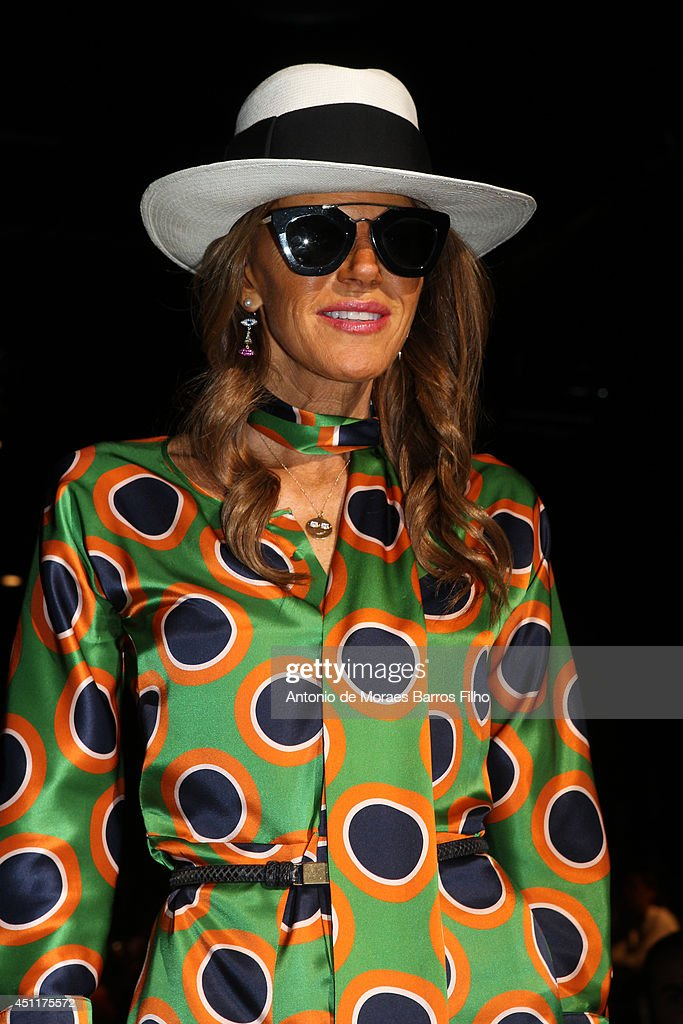 <a gi-track='captionPersonalityLinkClicked' href=/galleries/search?phrase=Anna+Dello+Russo&family=editorial&specificpeople=4391772 ng-click='$event.stopPropagation()'>Anna Dello Russo</a> attends the DSquared2 show as a part of Milan Fashion Week Menswear Spring/Summer 2015 on June 24, 2014 in Milan, Italy.