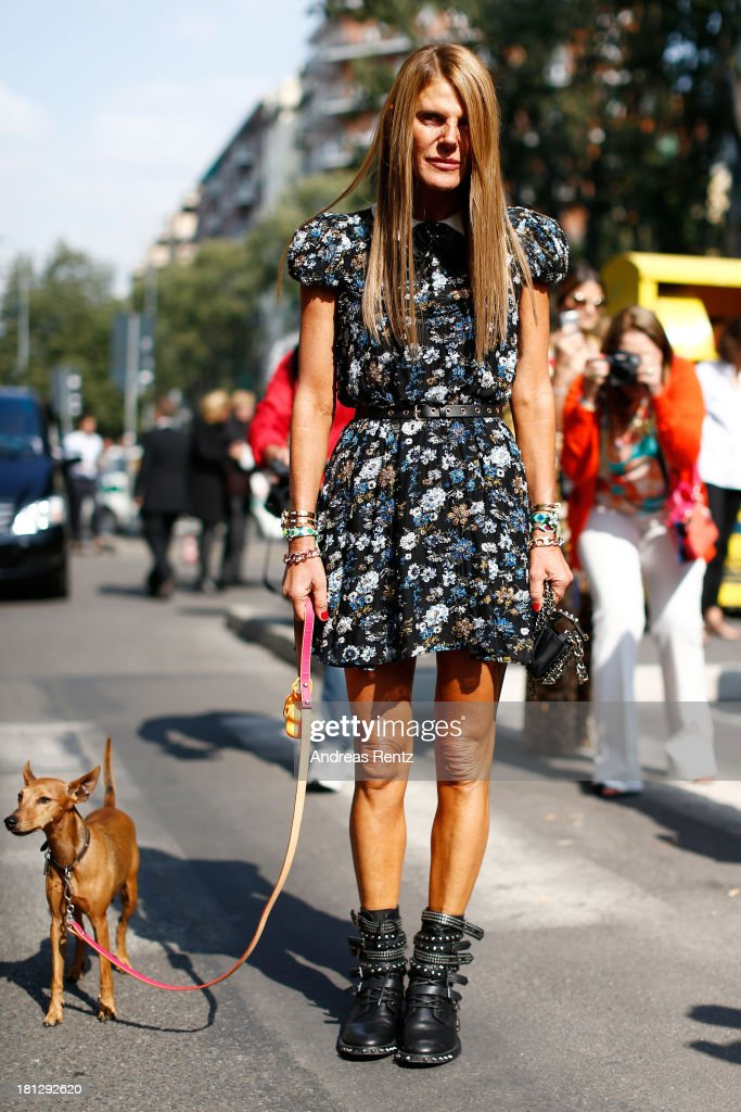 <a gi-track='captionPersonalityLinkClicked' href=/galleries/search?phrase=Anna+Dello+Russo&family=editorial&specificpeople=4391772 ng-click='$event.stopPropagation()'>Anna Dello Russo</a> attends the Emporio Armani show as a part of Milan Fashion Week Womenswear Spring/Summer 2014 on September 20, 2013 in Milan, Italy.