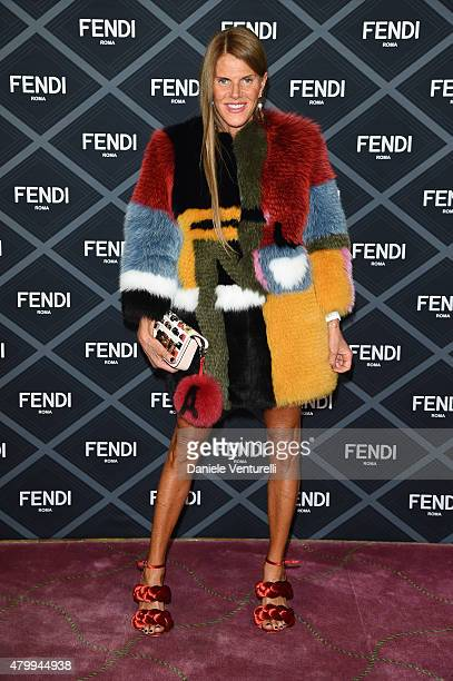 Anna Dello Russo attends the Fendi show as part of Paris Fashion Week Haute Couture Fall/Winter 2015/2016 on July 8 2015 in Paris France
