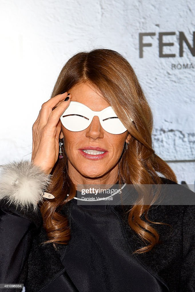 <a gi-track='captionPersonalityLinkClicked' href=/galleries/search?phrase=Anna+Dello+Russo&family=editorial&specificpeople=4391772 ng-click='$event.stopPropagation()'>Anna Dello Russo</a> attends the Fendi show during Milan Menswear Fashion Week Spring Summer 2015 on June 23, 2014 in Milan, Italy.