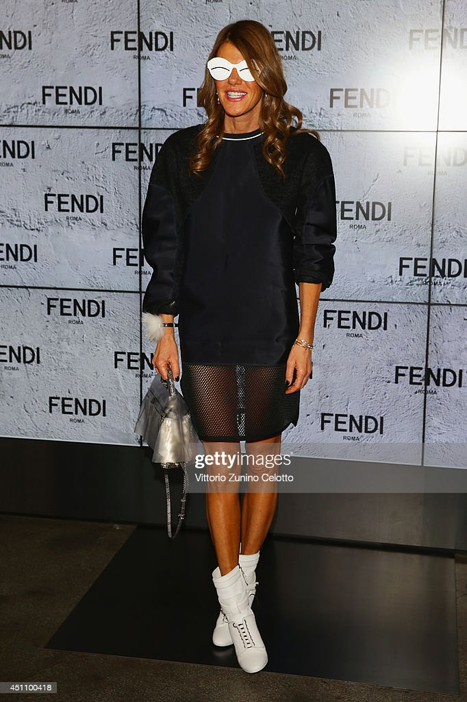 Anna Dello Russo attends the Fendi show during Milan Menswear Fashion Week Spring Summer 2015 on June 23, 2014 in Milan, Italy.