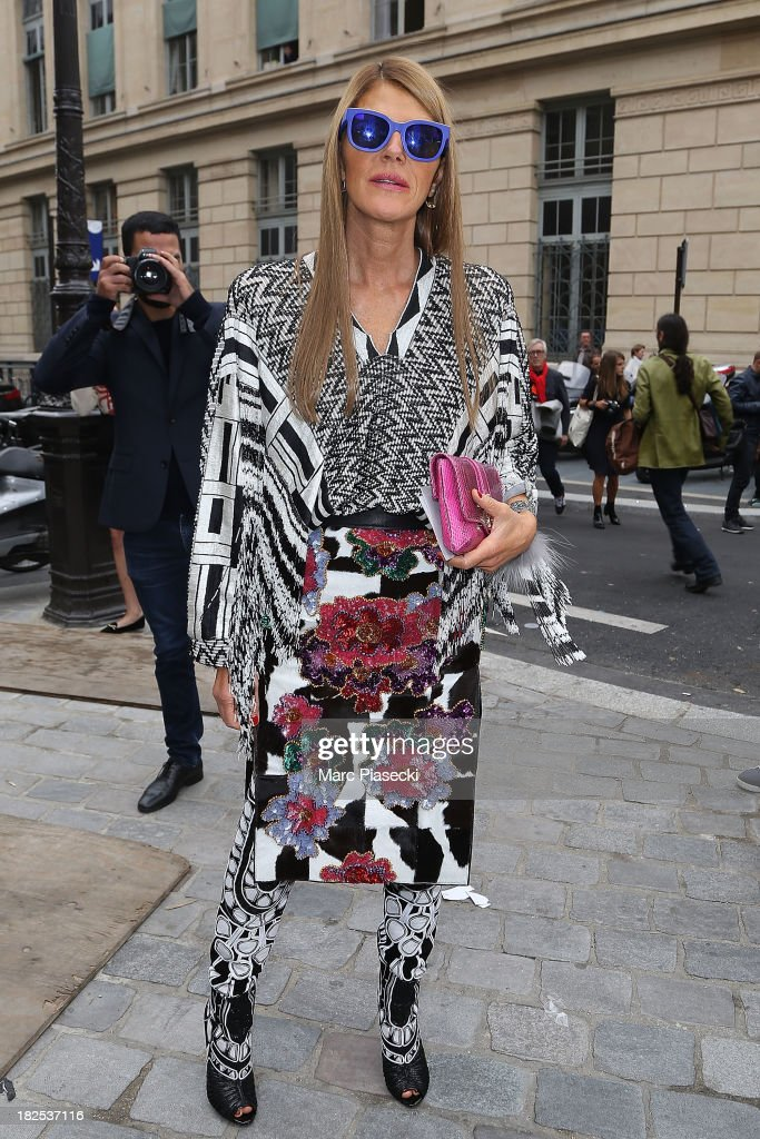Anna Dello Russo attends the Giambattista Valli show as part of the Paris Fashion Week Womenswear Spring/Summer 2014 on September 30 2013 in Paris...