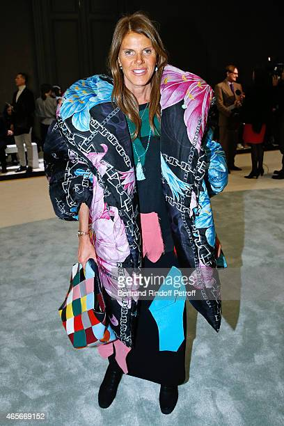 Anna Dello Russo attends the Giambattista Valli show as part of the Paris Fashion Week Womenswear Fall/Winter 2015/2016 on March 9 2015 in Paris...