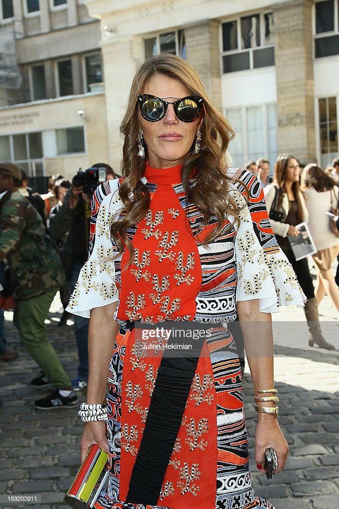 Anna Dello Russo attends the Giambattista Valli Spring / Summer 2013 show as part of Paris Fashion Week on October 1, 2012 in Paris, France.