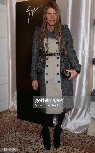 Anna Dello Russo attends the Giuseppe Zanotti Design Presentation during Milan Fashion Week Womenswear Fall/Winter 2013/14 on February 23 2013 in...