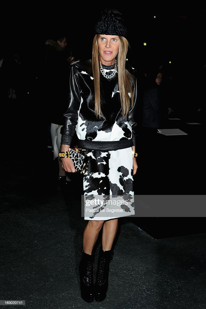 Anna Dello Russo attends the Givenchy Fall/Winter 2013 Ready-to-Wear show as part of Paris Fashion Week on March 3, 2013 in Paris, France.