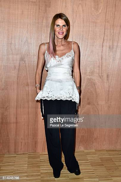 Anna Dello Russo attends the Givenchy show as part of the Paris Fashion Week Womenswear Fall/Winter 2016/2017 on March 6 2016 in Paris France