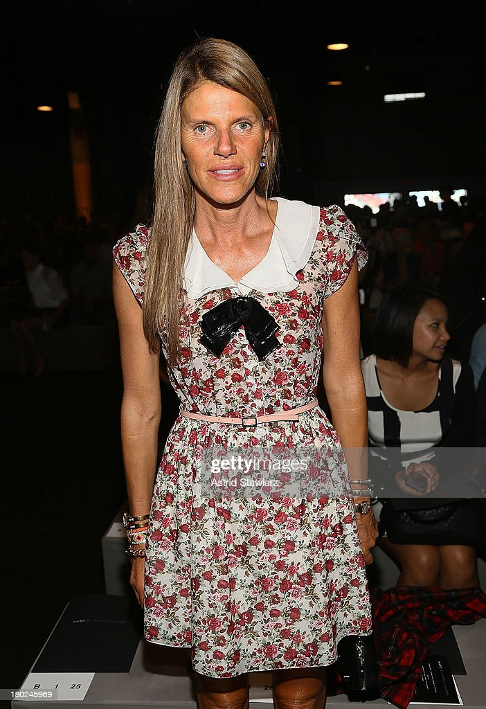 <a gi-track='captionPersonalityLinkClicked' href=/galleries/search?phrase=Anna+Dello+Russo&family=editorial&specificpeople=4391772 ng-click='$event.stopPropagation()'>Anna Dello Russo</a> attends the Marc By Marc Jacobs fashion show during Mercedes-Benz Fashion Week Spring 2014 at Pier 57 on September 10, 2013 in New York City.