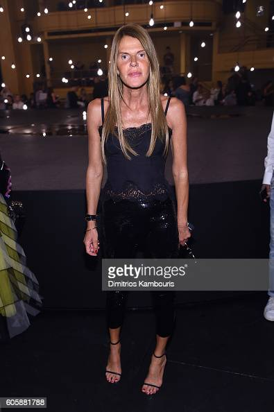 Anna Dello Russo attends the Marc Jacobs Spring 2017 fashion show front row during New York Fashion Week at the Hammerstein Ballroom on September 15...